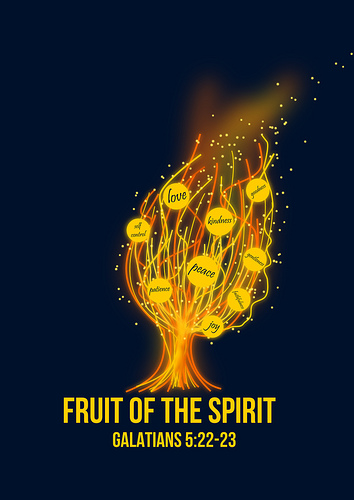 Fruits of the Spirit Fire Tree